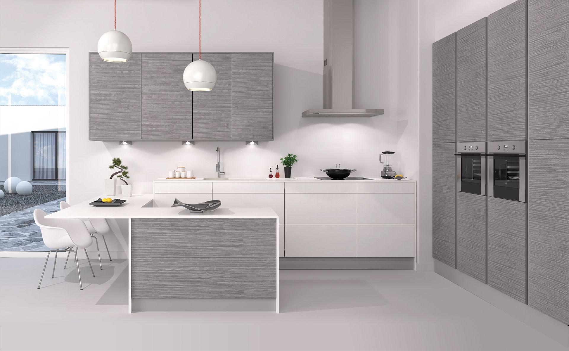 mogador gris fil cuisines teisseire. Black Bedroom Furniture Sets. Home Design Ideas