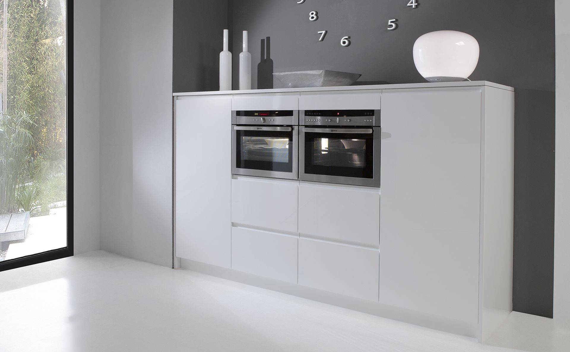 Bloc fours - Cuisine Courchevel Blanc Gloss