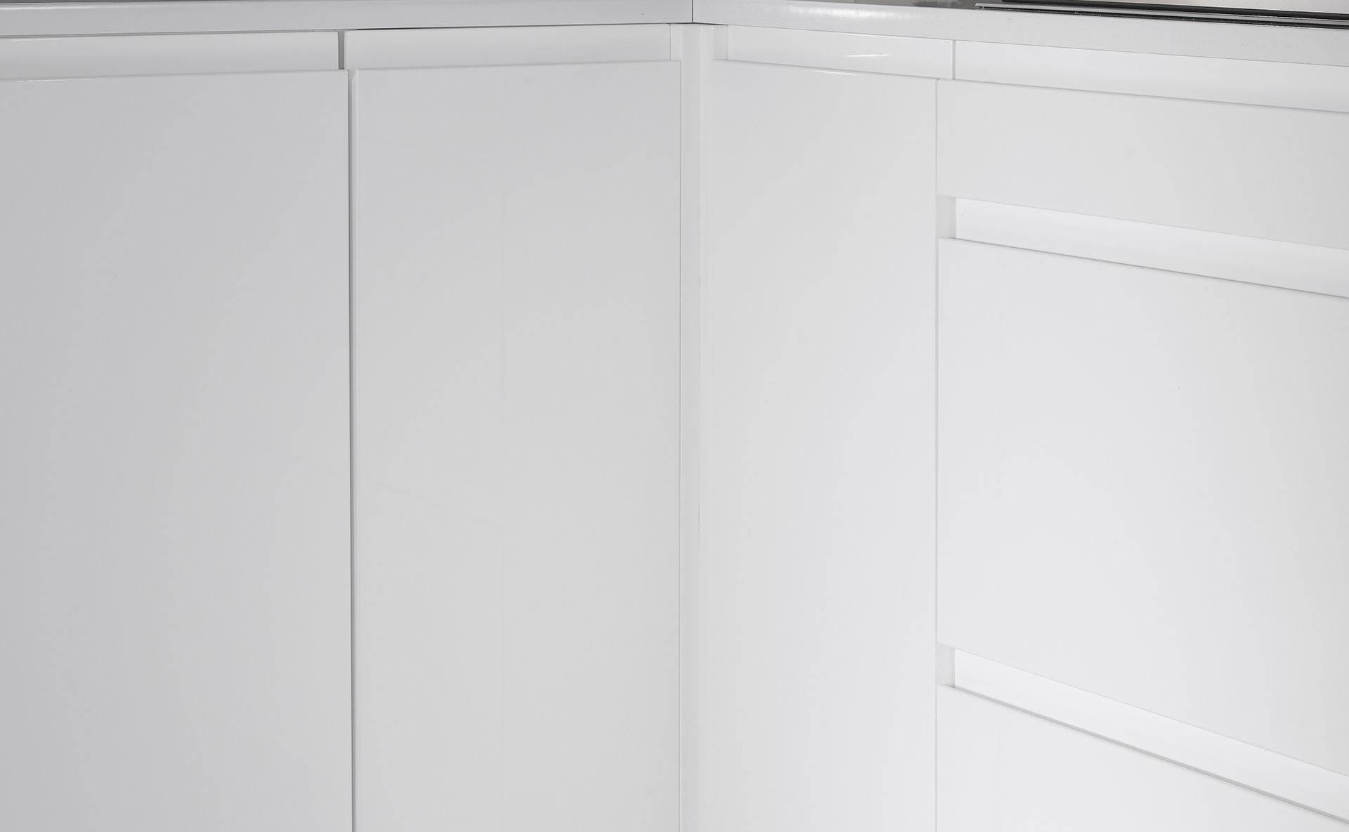 Meuble d'angle - Cuisine Courchevel Blanc Gloss