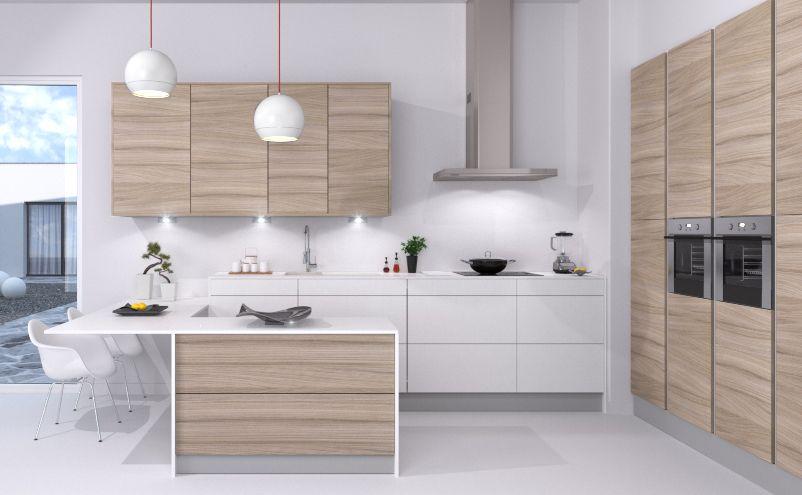 cuisine mogador gris fil quip e et ind finissable par cuisines teisseire. Black Bedroom Furniture Sets. Home Design Ideas