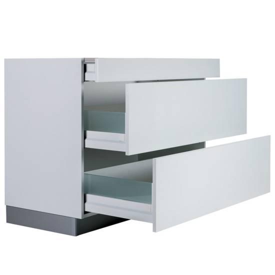 Meuble bas – 1 tiroir – 2 casseroliers : disponible en plusieurs largeurs de 40 à 120 cm