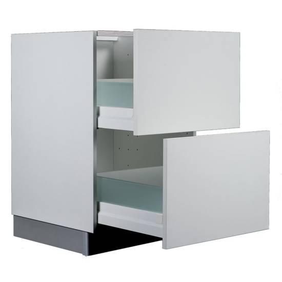 Meuble bas grande hauteur – 2 grands casseroliers : disponible en plusieurs largeurs de 40 à 120 cm
