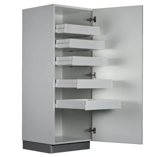 Demi-armoire – 5 tiroirs intérieurs : disponible en largeurs 40 et 60 cm