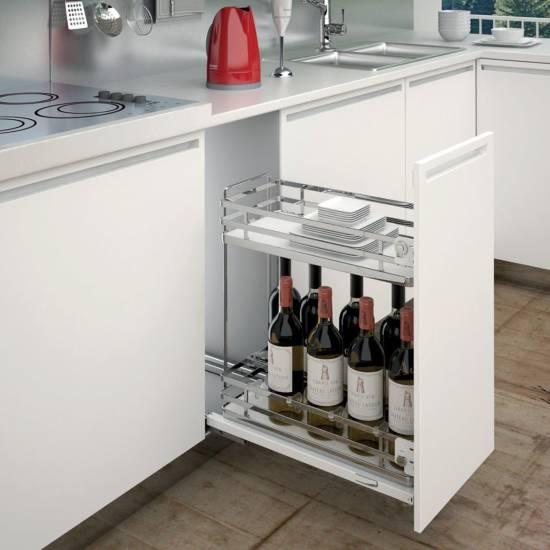 Meuble range bouteilles : disponible en largeurs 30 et 40 cm