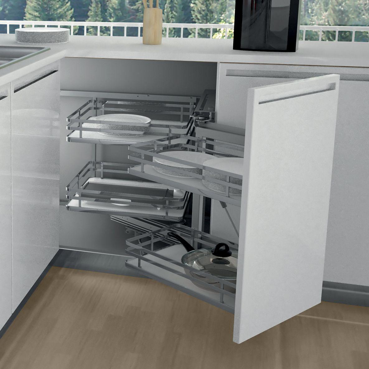 Meuble angle magic corner cuisines teisseire for Accessoire meuble angle cuisine