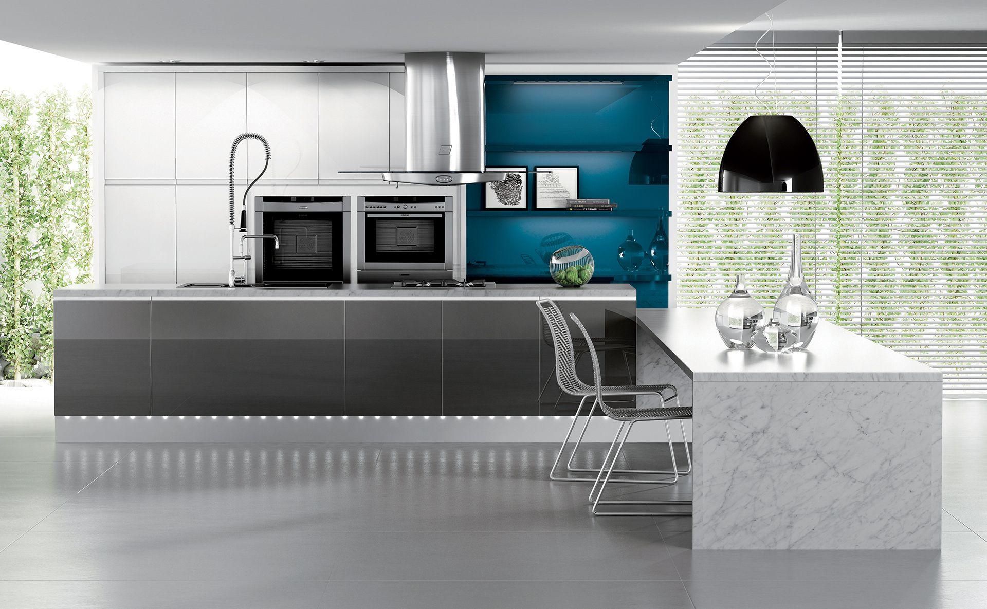 cuisine baccarat sobre et l gante quip e par cuisines teisseire. Black Bedroom Furniture Sets. Home Design Ideas
