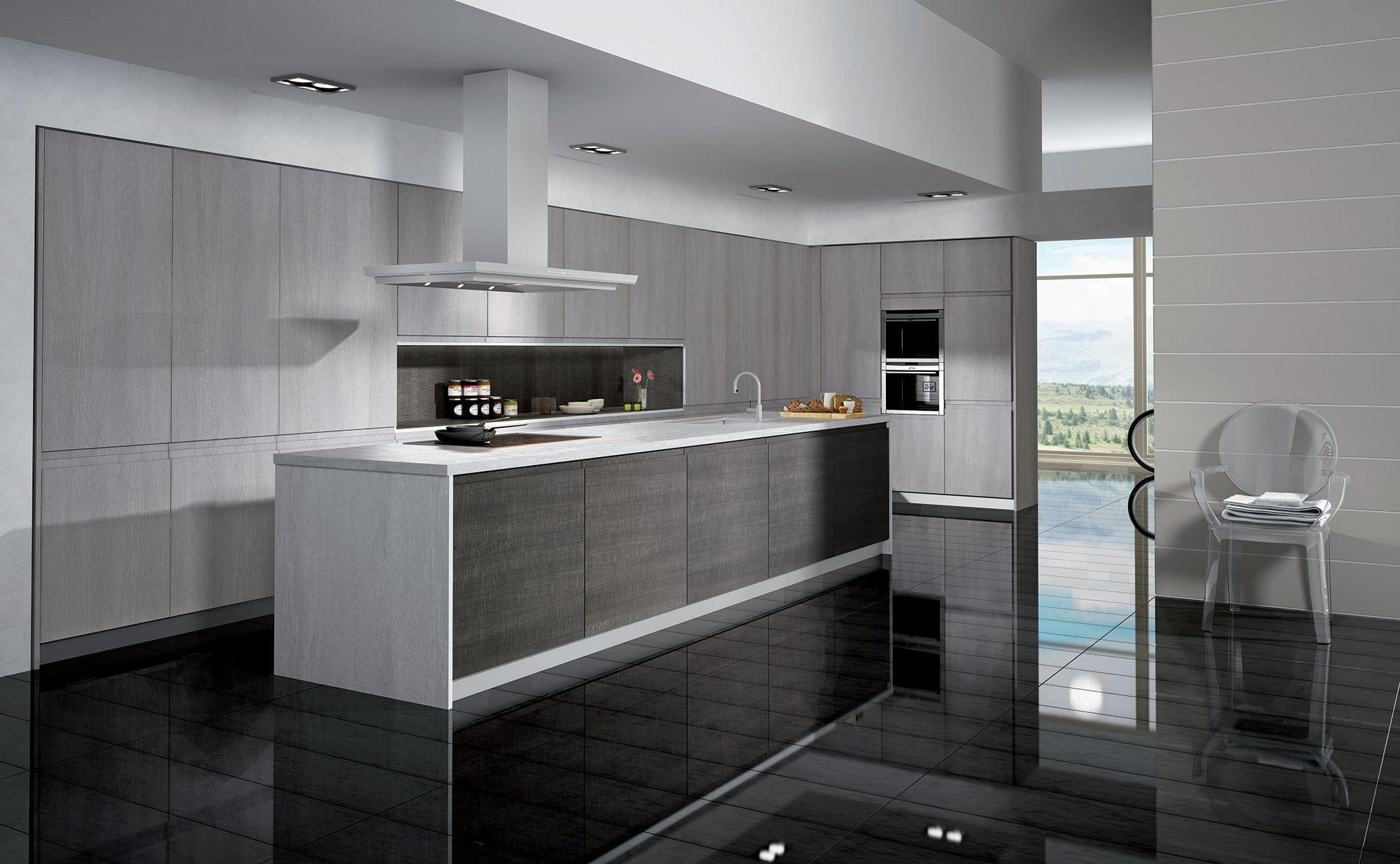 cuisine carat tr s l gante et fonctionnelle par cuisines teisseire. Black Bedroom Furniture Sets. Home Design Ideas